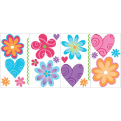 Blue Mountain Wallcoverings GAPP1772 Flirty Flower Room Appliques