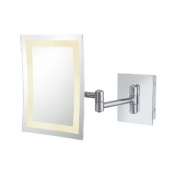 Aptations 92943HW Single-Sided Led Rectangular Wall Mirror - Hardwire In Chrome 92943Hw - Chrome