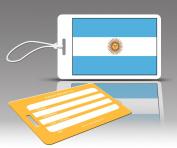Insight Design 770522 TagCrazy Luggage Tags- Argentina Flag- Set of Three