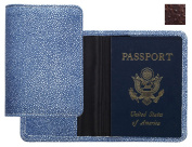 Raika AN 115 BROWN 4.06in. x 5.5in. Passport Cover - Brown