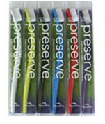 Preserve Personal Care Ultra Soft Preserve 6 Pack Toothbrushes Assorted Colours 222431