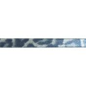Cest Joli 29616945 Ruban Imprime Felin Printed Ribbon 3-20cm . x 3.28 Yards-Grey