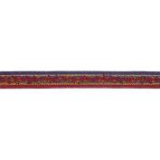 C'est Joli! Galon Toundra Braid Ribbon, 1cm x 3.28 Yards, Red Multi