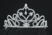 Costumes For All Occasions GB38SV Tiara 3 In Rhinestone Silver