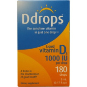 Ddrops 1072867 D Drops Liquid Vitamin D3 - 1000 IU - 0.17 fl oz
