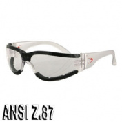 Zan Headgear ESH302 Shield III Sunglass Clear Anti-fog Lens ANSI Z.87