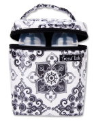 Trend Lab 104524 Bottle Bag- Versailles Black-White