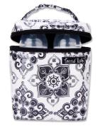 Trend Lab 104524 Bottle Bag- Versailles Black-White