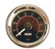 VIAIR 90080 5.1cm . Dual Needle Air Gauge - Black Face