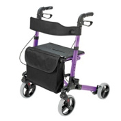 BRIGGS HEALTHCARE 501-5012-1110 HealthSmart Gateway Aluminum Rollator-Purple - Brown Box