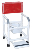 MJM International 118-3-SF-SQ-PAIL Shower- Commode Chair