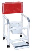 MJM International 118-3-SF-SQ-PAIL Shower- Commode Chair