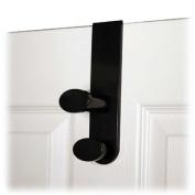 Advantus Corp. AVT40811 Double Garment Hook- Plastic- Fits 1-.75 Doors- Black