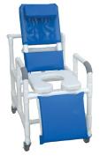 MJM International 193-SSDE-SQ-PAIL Reclining Shower Chair