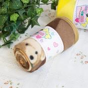 Blancho Bedding TB-BLK016-BROWN-27.6by38.6 Teddy Bear - Brown Korean Coral Fleece Mini Baby Throw Blanket
