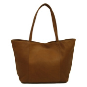Piel Leather 2807 Womens Tote - Saddle