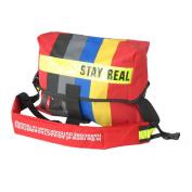 Blancho Bedding MB-B333-RED Stay Real - Red Multi-Purposes Messenger Bag / Shoulder Bag