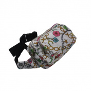 Blancho Bedding YDL256-CHAINWHITE Chain Pattern Multi-Purposes Fanny Pack / Back Pack / Travel Lumbar Pack