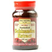 Only Natural 1175538 Schizandra Extract - 500 mg - 60 Veggie Capsules