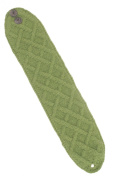 Nirvanna Designs HB02 Lattice Cable Headband with Fleece and Buttons - Green