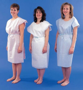 Complete Medical 700040 Paper Patient Exam Gowns- White Bx-50