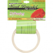 Unfinished Bangle Bracelet Flat Exterior-Medium 2.5cm Wide