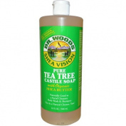 Dr. Woods Pure Tea Tree Castile Soap with Organic Shea Butter, 32 fl oz (946 ml)
