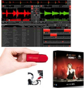 MIX VIBES HOME7 DJ Software with USB Soundcard