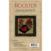 Rachels Of Greenfield 308770 Rooster Punch Needle Kit-8.6cm . x 8.6cm .