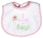 Dee Givens & Co-Raindrops 6811 I am not a Boy Small Bib - Pink