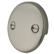 Kingston Brass DTT108 Kingston Brass DTT108 Bath Tub Overflow Plate Satin Nickel