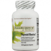 Food Science Labs 1029644 FoodScience of Vermont Thyroid Basics - 120 Vegetarian Capsules