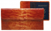 Raika RO 174 ORANGE Travel Pouch with Passport Cover - Orange
