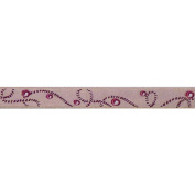 Cest Joli 112115448.2ln Akoya Braid Ribbon 3-20cm . x 3.28 Yards-Pink