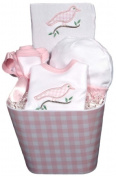 Dee Givens & Co-Raindrops 40015 Pink Gingham Baby Accessory Set - Pink - Layette