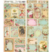 Crafty Secrets Heartwarming Vintage Double-Sided Creative Scraps, 48cm X 20cm , Love Mail Multi-Coloured