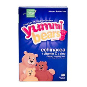 Hero Nutritional Products 0943266 Yummi Bears Echinacea plus Vitamin C and Zinc - 40 Chewables