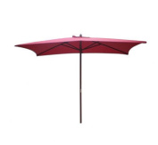 International Concepts Rectangular Market Umbrella in Autumn Red