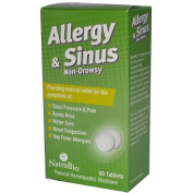 Natra-Bio 0737437 Allergy and Sinus Non-Drowsy - 60 Tablets