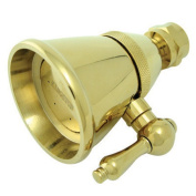Kingston Brass K132C2 2-.25 Inch Diameter Brass Shower Head - Polished Brass
