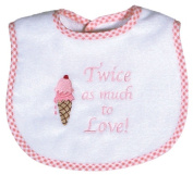 Dee Givens & Co-Raindrops 6326 Twice as much to Love Small Bib - Pink