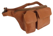 Piel Leather 2120 Waist Bag With Phone Pocket- Saddle