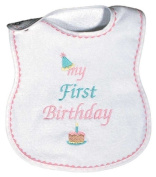 Dee Givens & Co-Raindrops 6003 My First Birthday Medium Bib - Pink