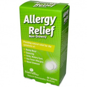 Natra-Bio 0737411 Allergy Relief Non-Drowsy - 60 Tablets