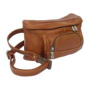 Piel Leather 9903 Carry-All Waist Bag- Saddle