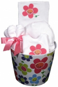 Dee Givens & Co-Raindrops 40035 Girl Flower Baby Accessory Set - White - Layette