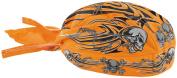 Balboa Z669 Flydanna 100 Percent Cotton Orange Tribal Skull