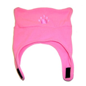 BearHands TC700LPK Toddler Fleece Chin Strap Hat - Light Pink