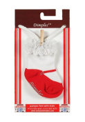 Dimples 689076848060 Mary Jane Socks - Red
