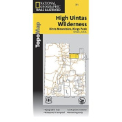 National Geographic TI00000711 Map Of High Uintas Trail - Utah